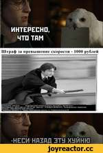 Штраф ла превышение скорости - 1000 рублей